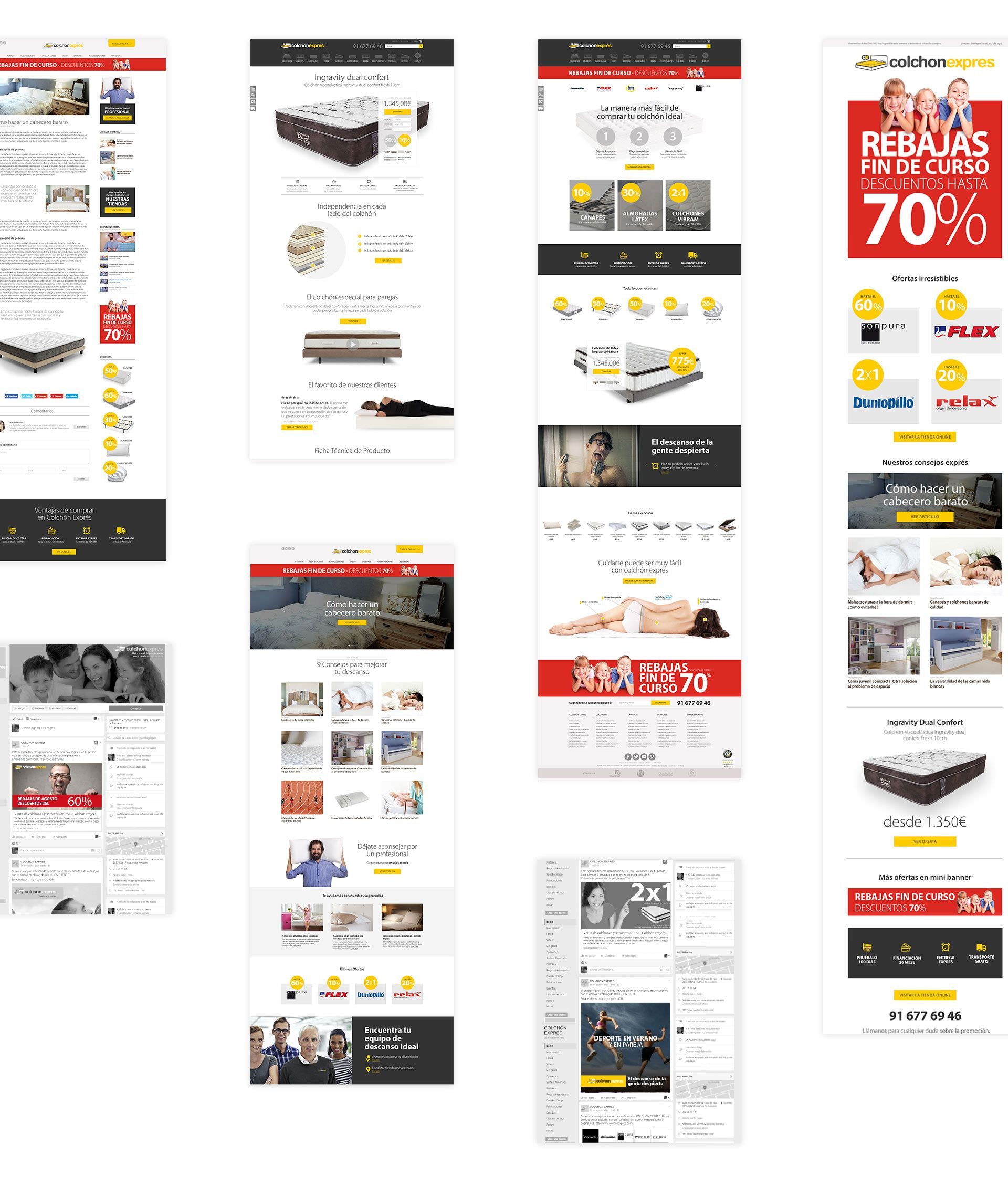 Diseño web para Colchón Exprés