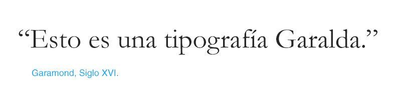 tipografías Clásicas Didonas - Garamond
