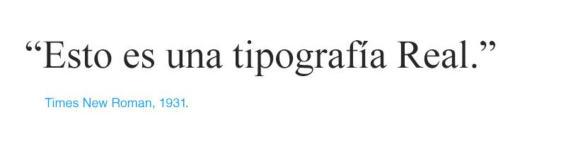 tipografías Clásicas Didonas - Times New Roman