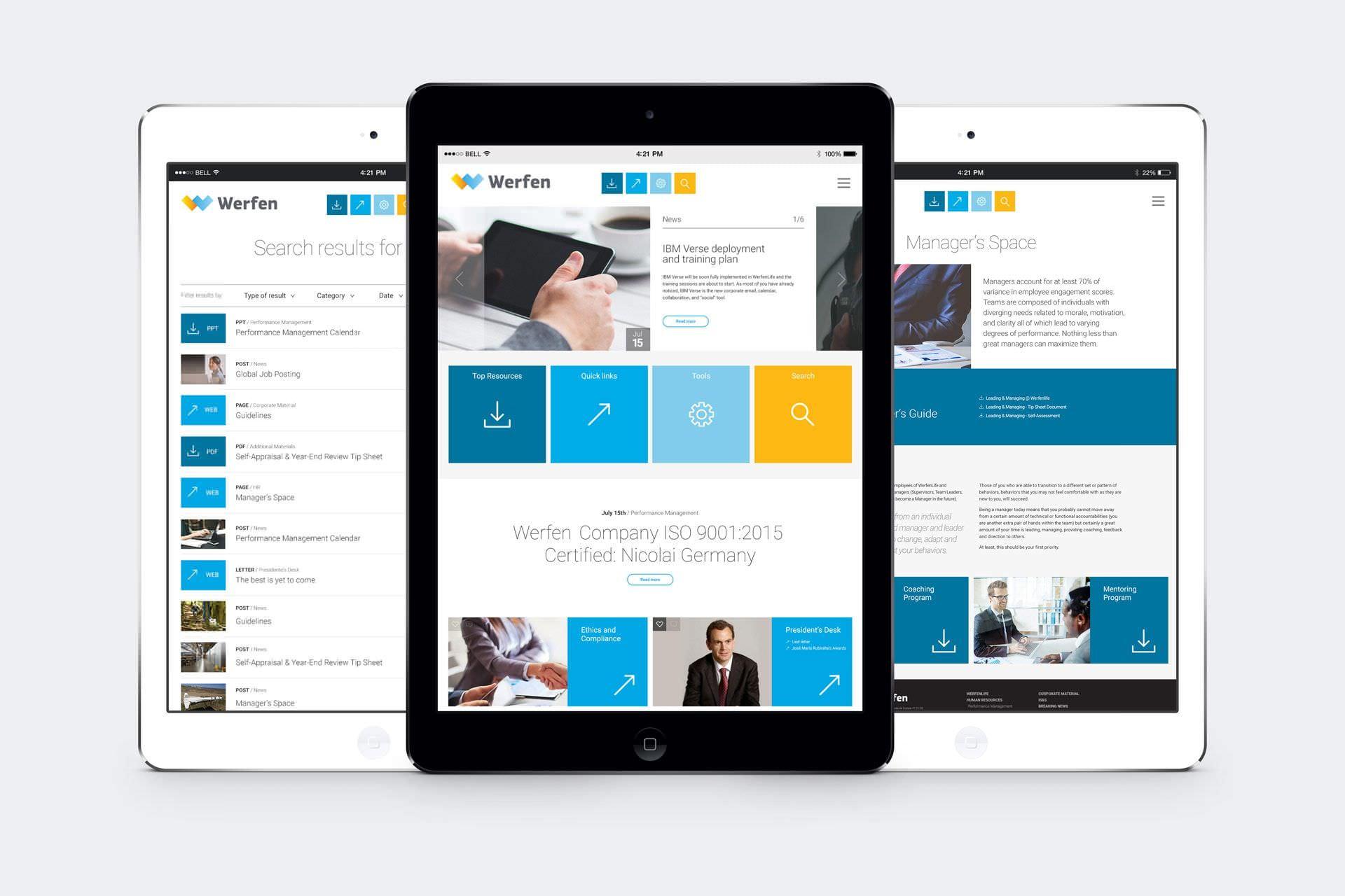 Diseño de la web de Werfen en diferentes dispositivos