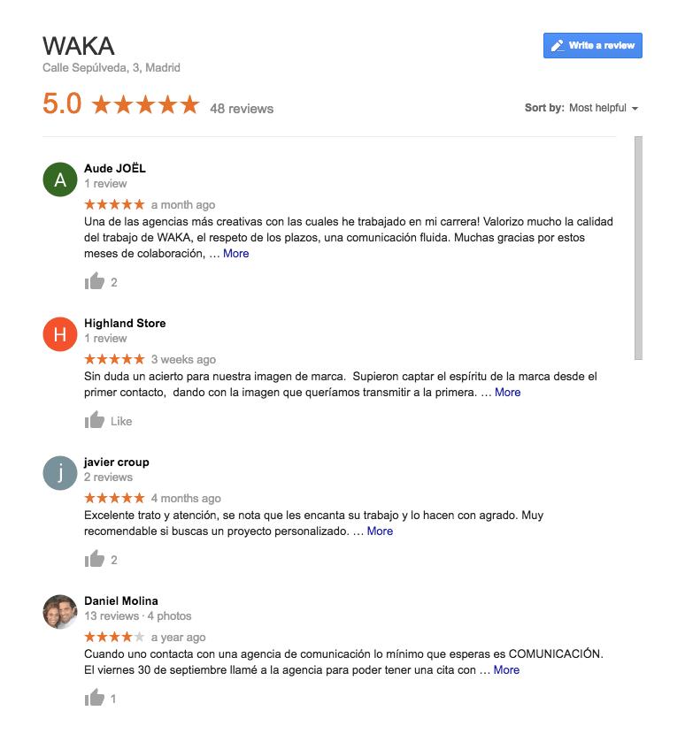 Reseñas de Google para SEO local