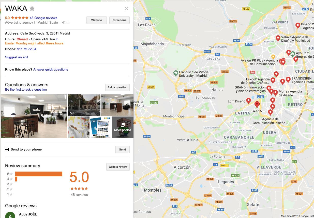 SEO local para Google Maps