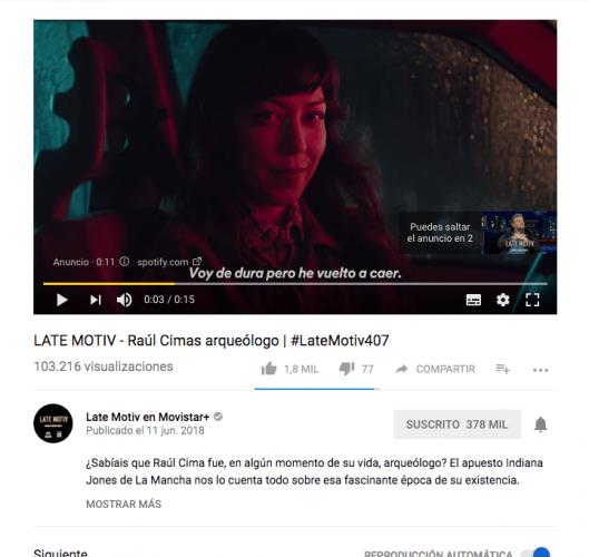 Publicidad en Youtube Instream Ads
