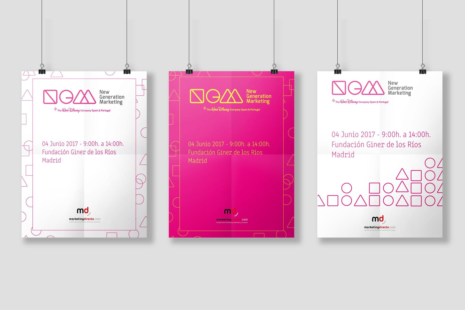 Diseño de folleto para el evento New Generation Marketing
