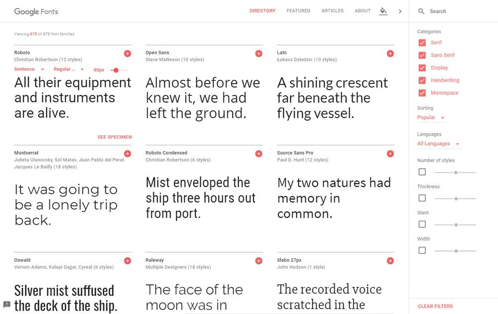 cómo usar tipografías para web con Google Fonts
