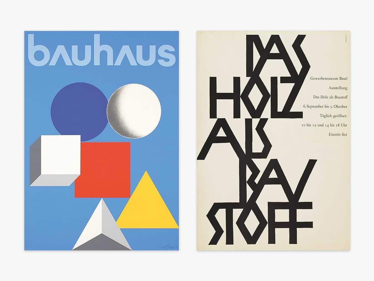 flat design bauhaus y Das Holz als Baustoff