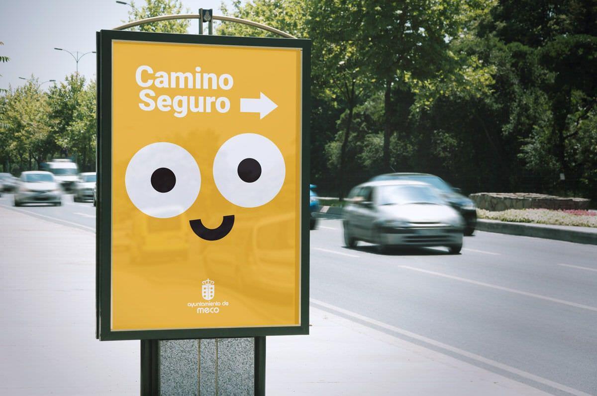 ejemplo flat design camino seguro ayuntamiento de mecho 3