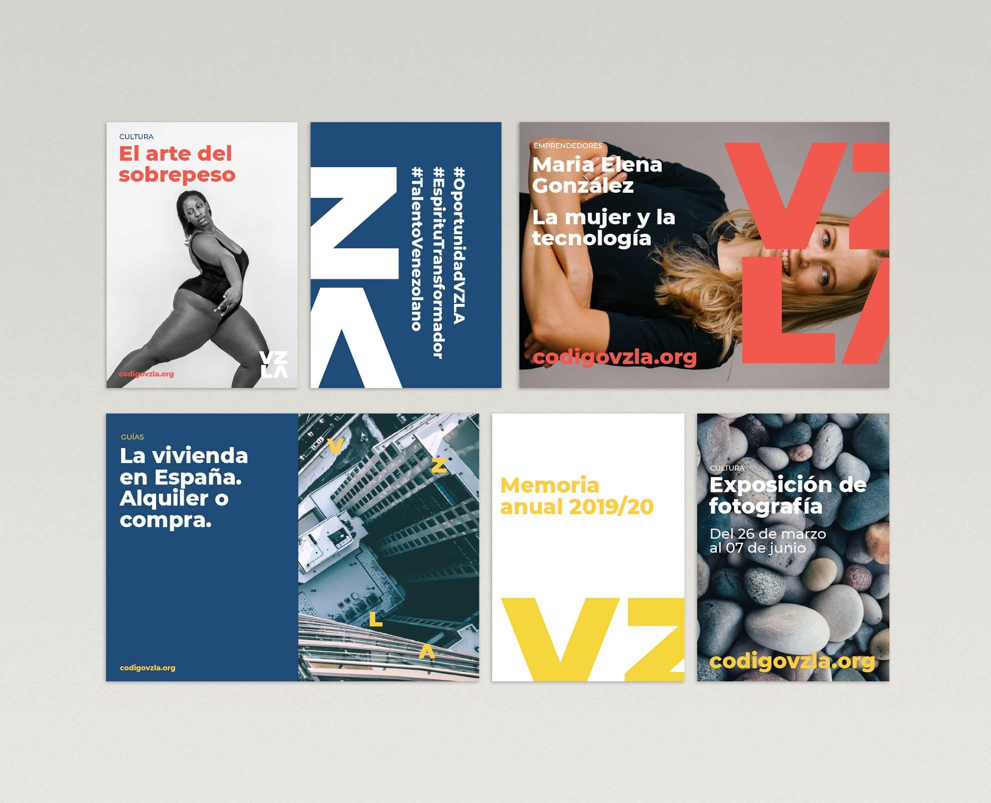Diseño de identidad corporativa Fundación Código Venezuela, 2019