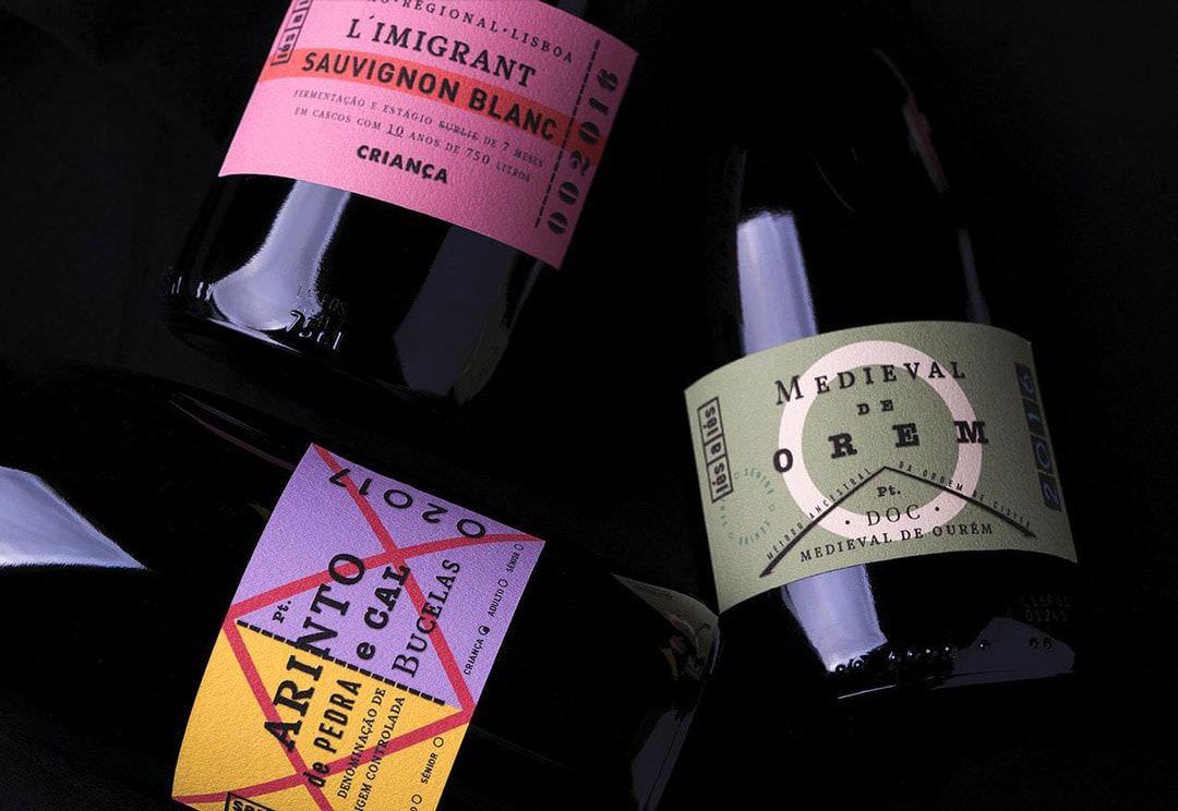 ejemplo diseño de etiqueta de vino Les a Les