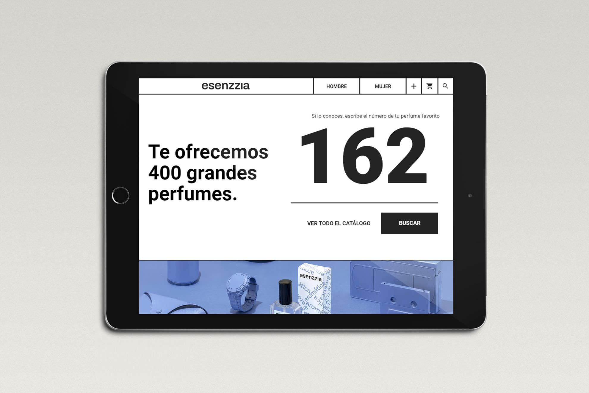 Diseño de packaging, web e ecommerce para Esenzzia, 2019