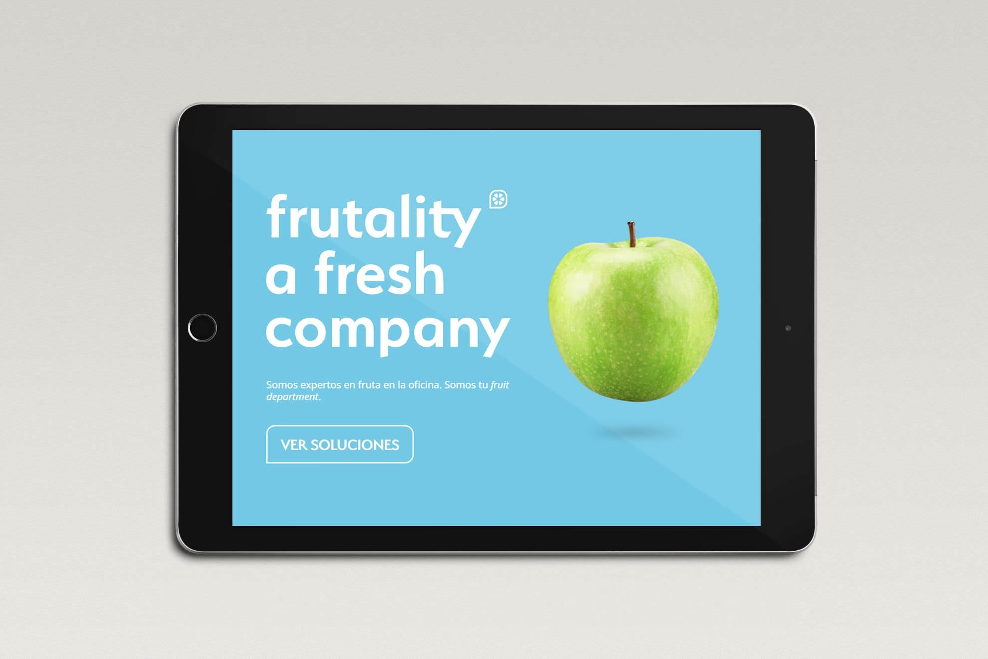 Brand redesign and web design for Frutality, 2019.