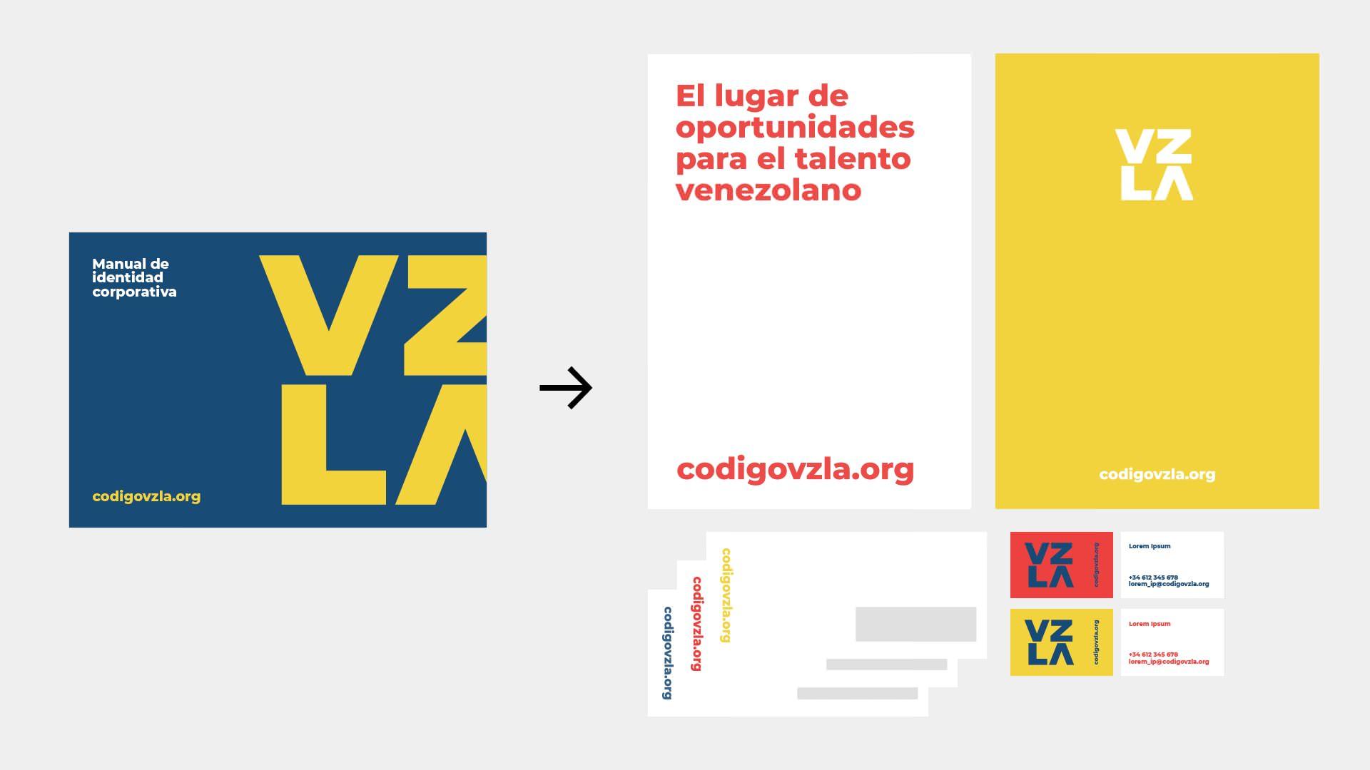 ejemplo branding y manual corporativo Fundación Código Venezuela