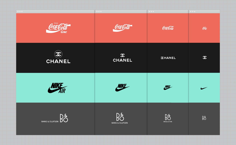 ejemplo diseño responsive de logotipo