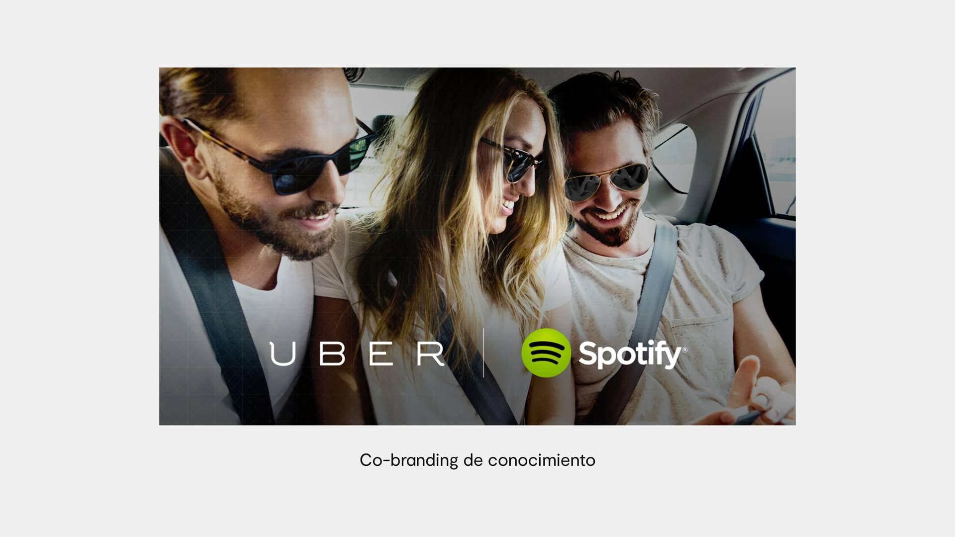 ejemplo cobranding uber y spotify