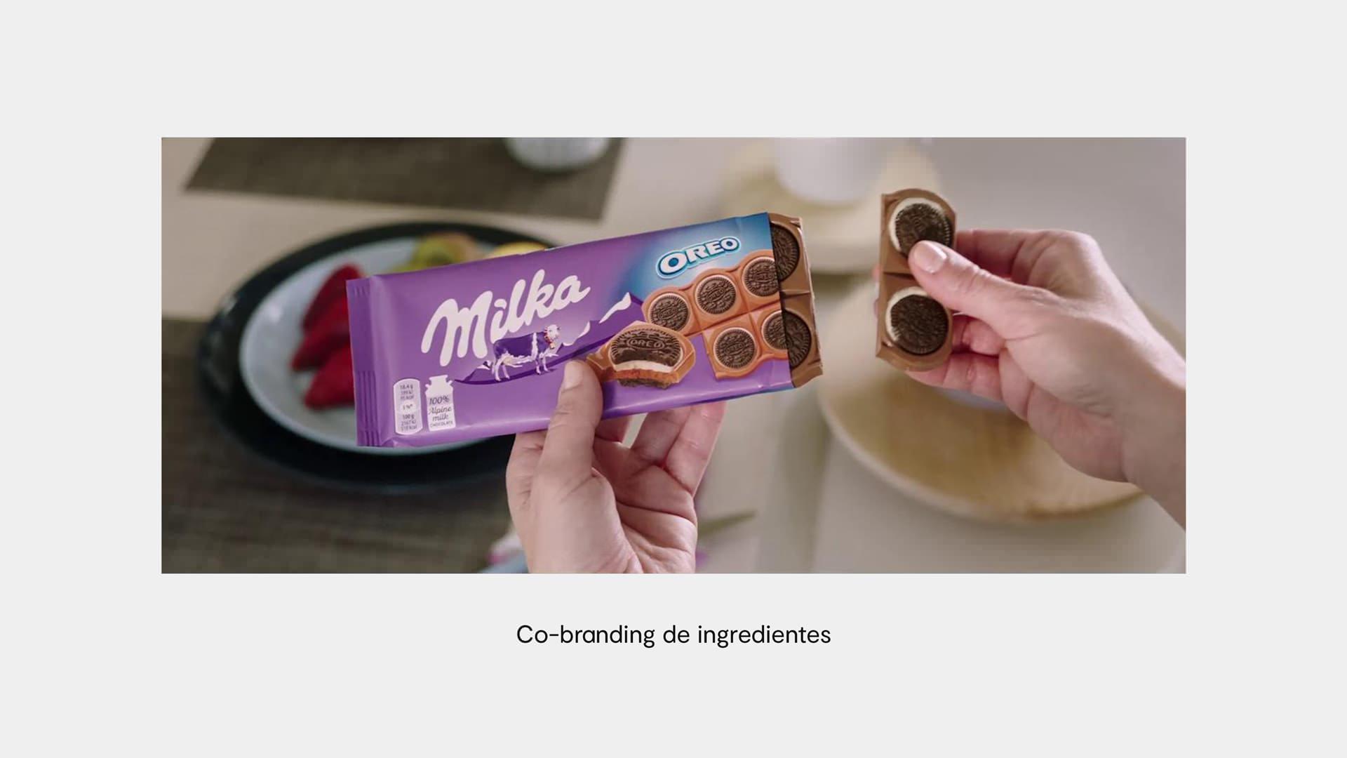 ejemplo cobranding Milka y Oreo