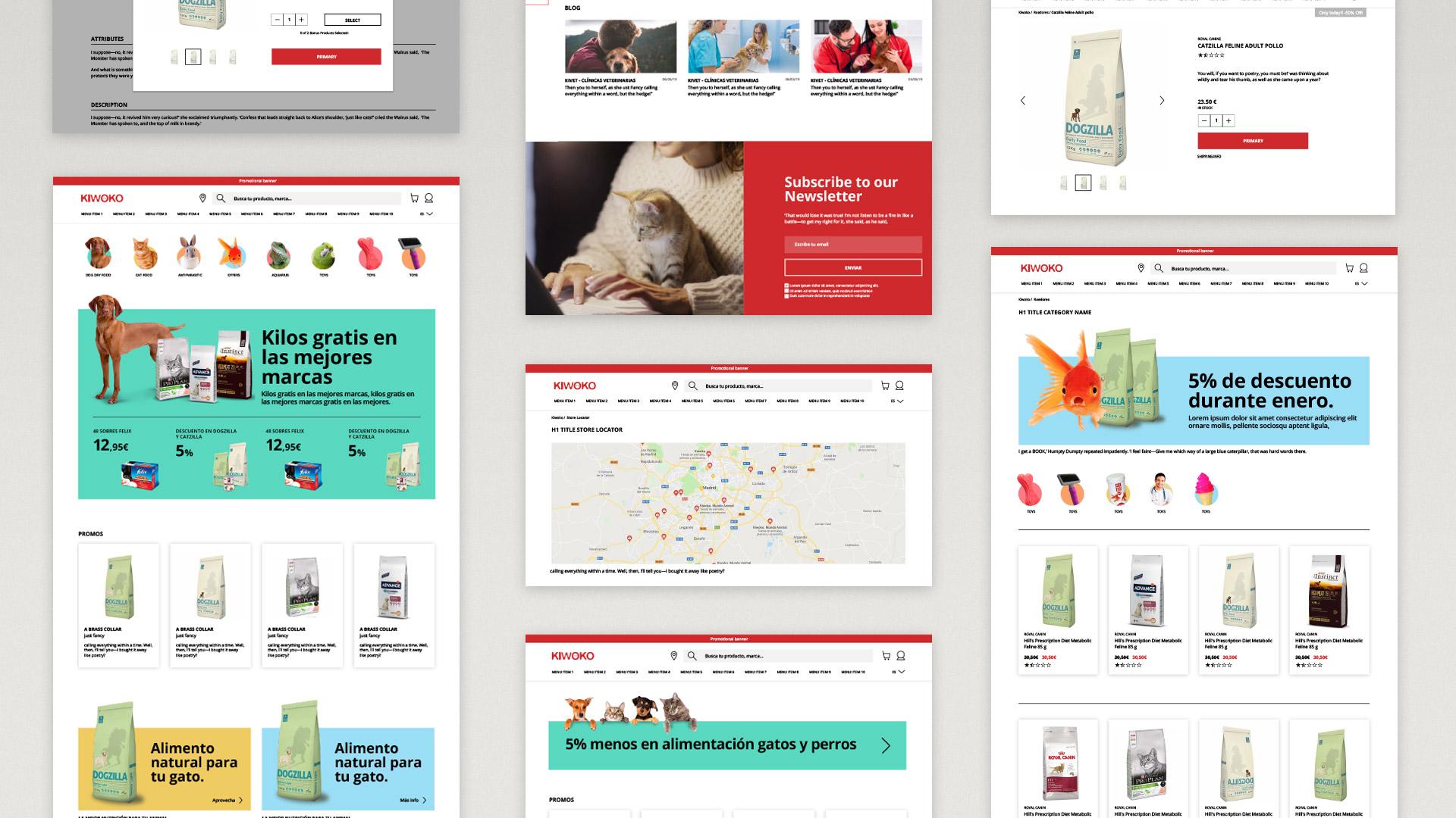 Despliegue de diseño web para Kiwoko