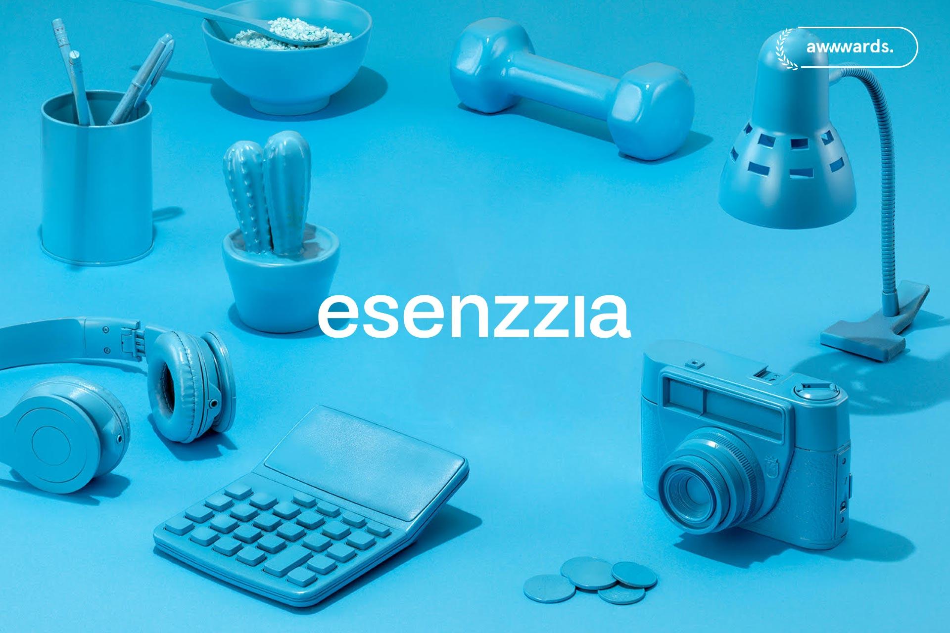 Agencia de diseño waka: trabajo de branding y diseño web para Esenzzia, 2019.