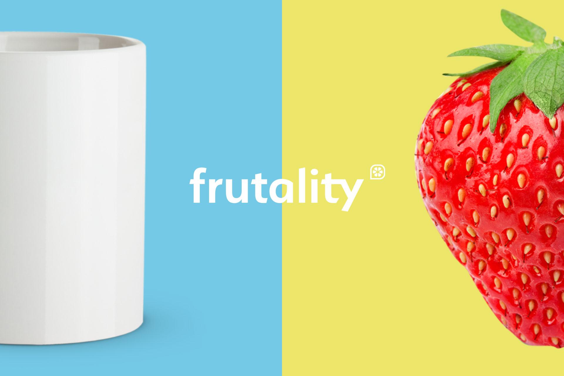 Agencia de publicidad waka: trabajo de branding y diseño web para Frutality, 2019.
