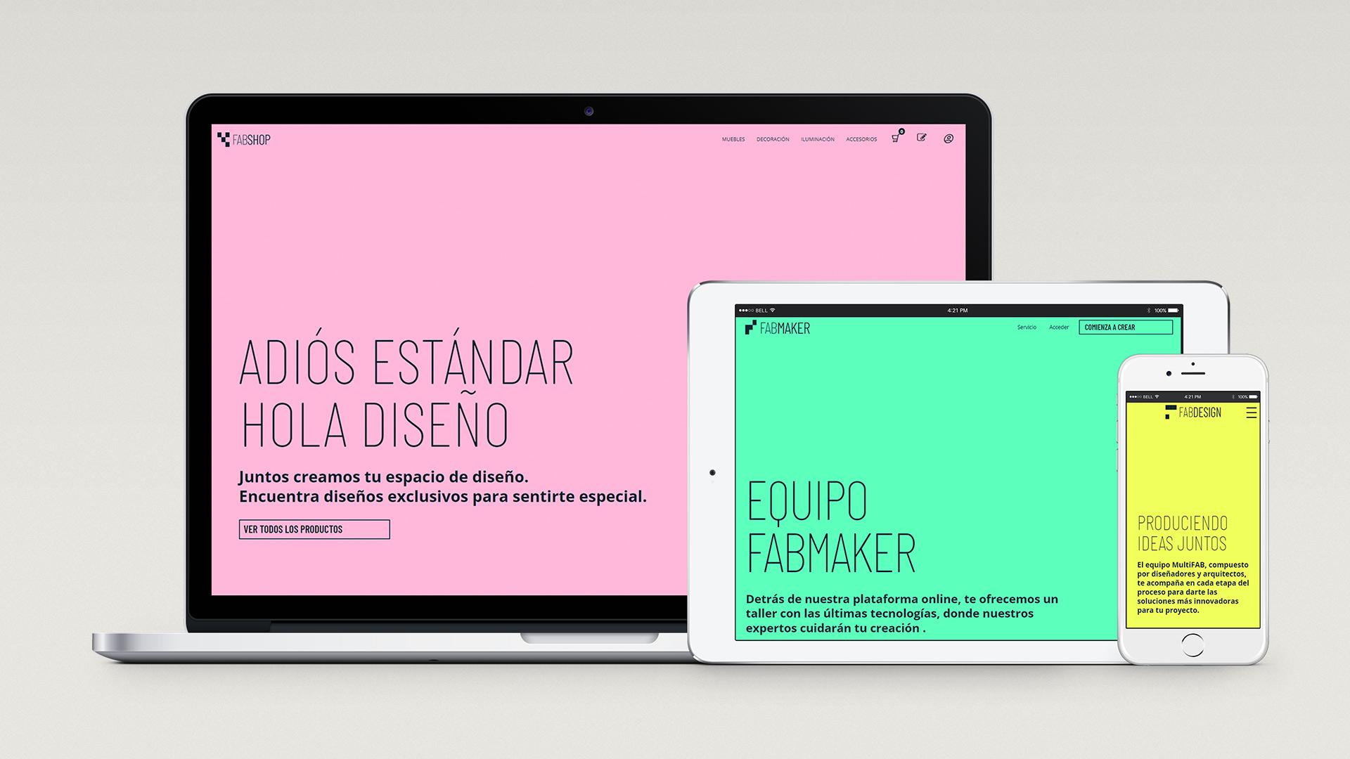 Interface design for mobile application for Fabmaker