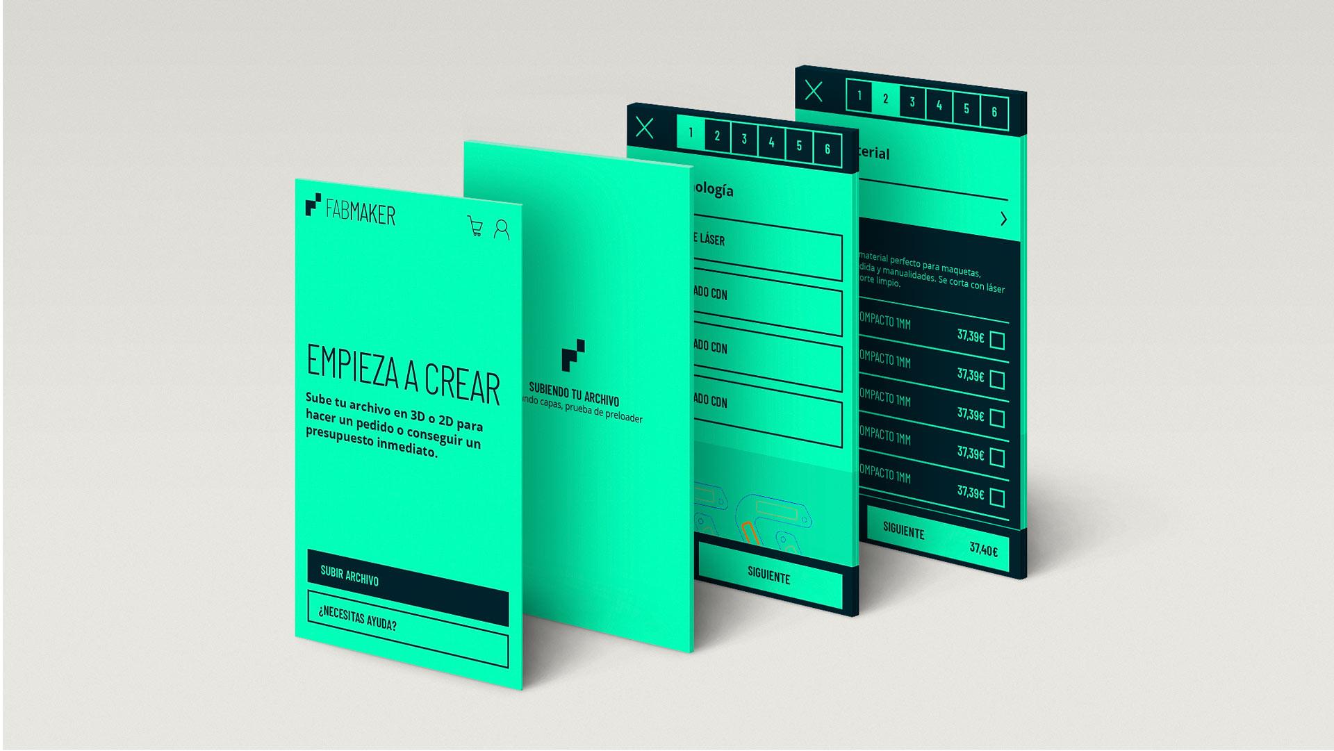 Mobile application design for Fabmaker