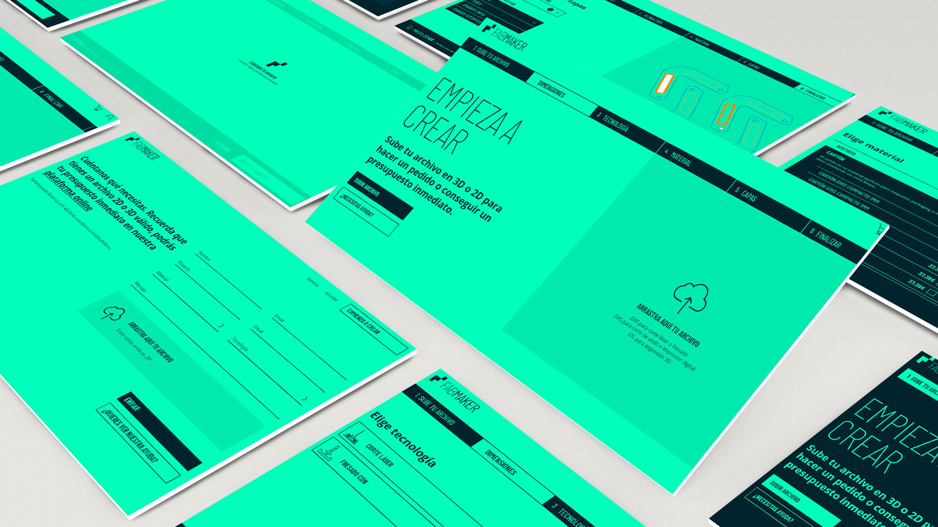 Interface design for Fabmaker application