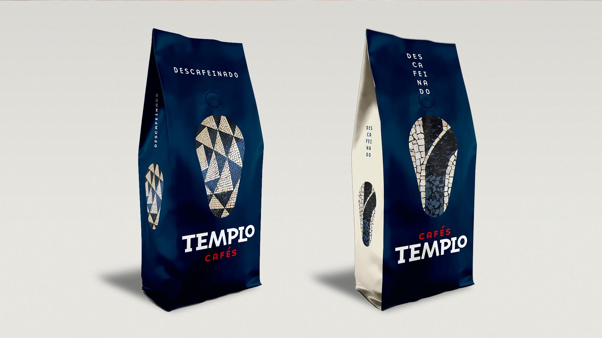 Diseño de producto, packaging y concepto creativo para Cafés Templo Portugal, 2020