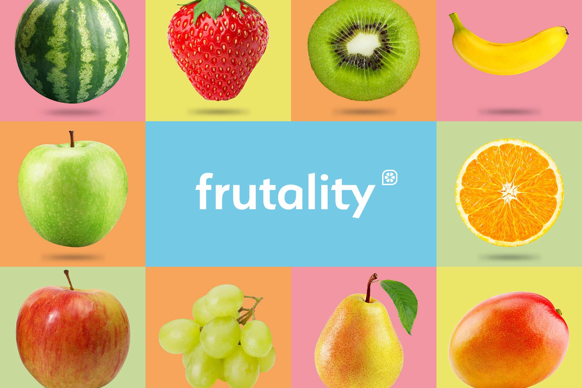 Waka advertising agency: branding and web design work for Frutality, 2019.