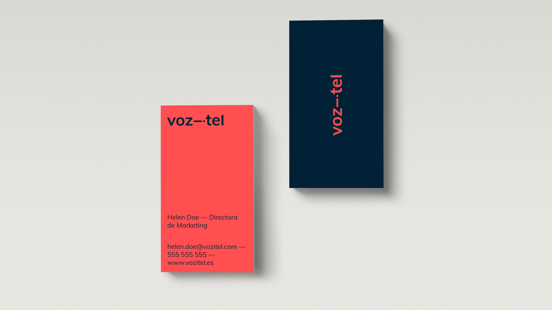 Corporate identity design applied to the digital environment, Vozitel, 2020