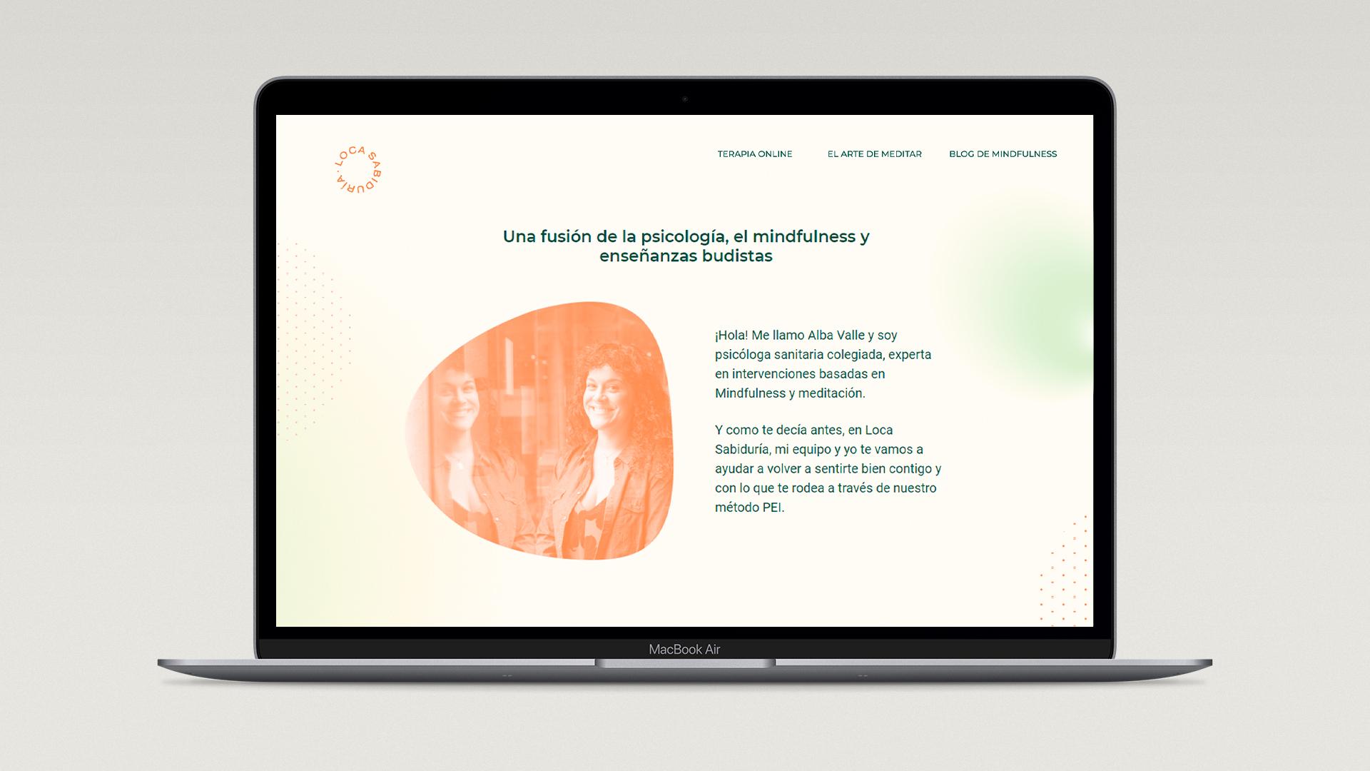 Diseño web branding Loca Sabiduría