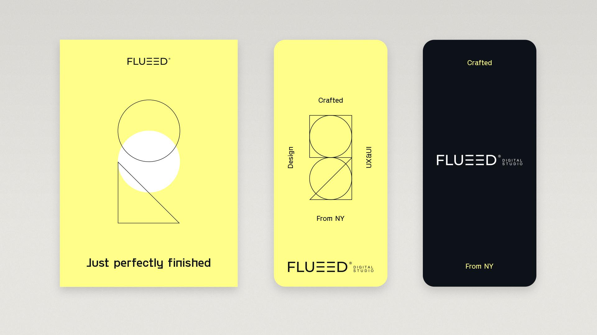 Identidad visual estudio diseño UX/UI Flueed