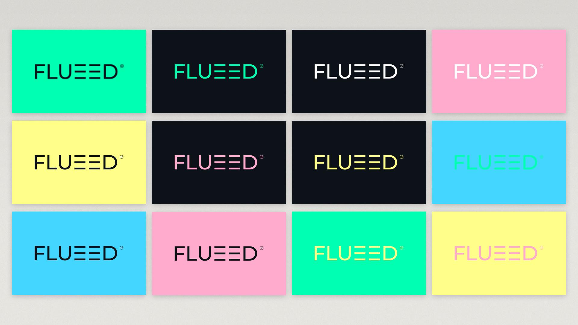 Logotipo estudio UX/UI Flueed
